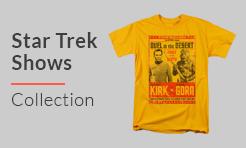 Star Trek Shows t-shirts