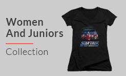 Star Trek Women And Juniors t-shirts